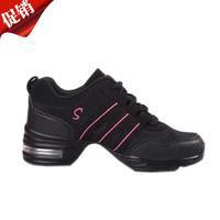 Gauze dance shoes soft outsole elevator shoes dance shoes modern square women's shoes dance shoes sport shoes