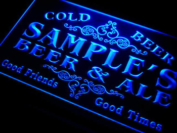 qs-tm Name Personalized Custom Beer & Ale Vintage Bar Cold Beer Neon Light Sign