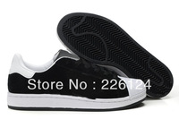 Free shipping hot selling brand new classic black and white running shoes men casual skateboard shoes