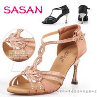 Latin dance shoes sasan women's Latin high heel dance shoes adult Latin shoes with diamond