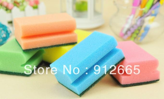 Home kitchen cleaning sponge kitchenware tableware scrubber bath sponge,40pcs/lot,free shipping(China (Mainland))