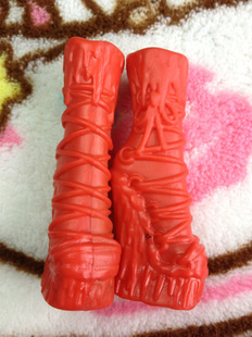 Free Shipping The Brand Fashion Original Monster High Dolls' Stylish Medium Length Red Boots Shoes Good Quality Accessories