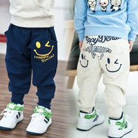 2013new fashion baby smile pants  Terry Haren pants kids baby trousers boys pants 5pcs/lot free shipping