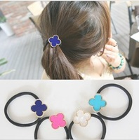 Min.order is $10(Mix order) Free shipping 2013 Fashion Four Leaf Flower Hair Accessories Elastic Hair Bands For Women