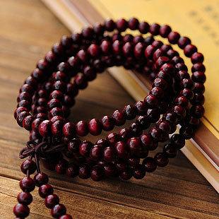 Fashion Natural Red Sandalwood 6mm Beads Buddha Stretch Bracelet Men / Women Gift Religion Charm Wholesale FTibetan Jewelery