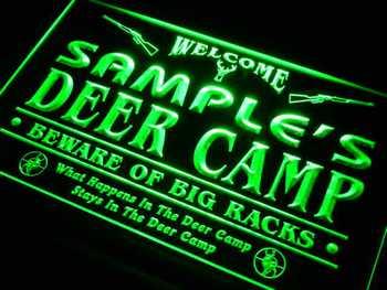 tu-tm Name Personalized Custom Deer Camp Big Racks Bar Beer Neon Sign