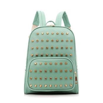 2013 backpack female preppy style trend of the backpack vintage fashion school bag women's rivet handbag