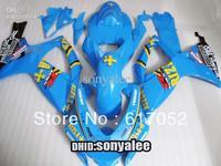 GSXR600 750 06-07 GSXR750 06 07 GSXR 600 2006 2007 2006-2007 ABS Fairing kit light blue body