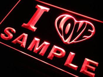 v-tm Name Personalized Custom I Love Series Neon Sign