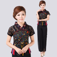 Tang suit women's summer fluid trend chinese national style spring autumn of improved cheongsam top Free PP Big Size 4XL 5XL
