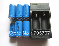 New 11pcs Rechargeable Flashlight Torch 16340 Battery and Charger 2000mah 3.7v free shipping