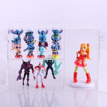 Open multi-layer acrylic display box cartoon anime doll hand-done model display box transparent dust box