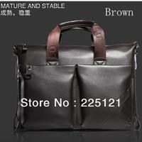 Genuine soft leather briefcase leather laptop bags for men men's shoulder bags business bag