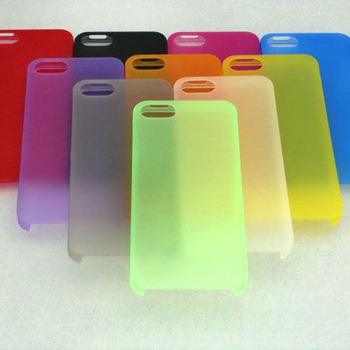 Hot New Free shipping 100 PCS/Lot The thinnest 0.3 mm transparent Colorful mobilephone case for iphone5 5g 5th
