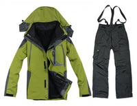 New Fashion 2 - 1 Men's ski wear jackets outdoor jackets outdoor men ski suit sports suit