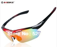 Worldwide Free Shipping Outdoor riding Mountaion Cycling Sun Glasses /Colors RED