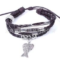 Angel wings / alloy bangle bracelet beaded bracelet