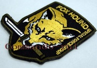 New! Metal Gear Solid FOXHOUND badge! ! Exquisite Embroidery Back WIth Velcro! Fox Badge