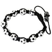 Women's bracelet titanium hand-knitted bracelet football bracelet fashion exquisite