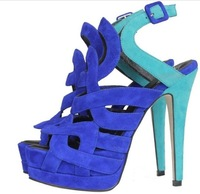 New Arrival Classic Buckle Vogue Ladies Platform Heels Dress Pumps Shoes   285