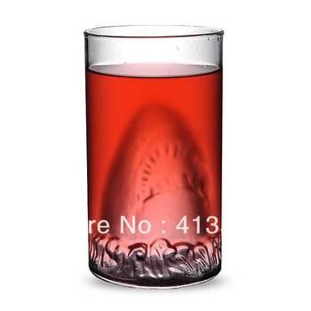 Novelty Crystal Shark Attacks Glass Wine Glasses Beer Cup Crazy Horrible Shark Mug