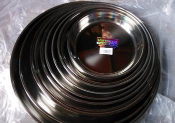 Stainless steel plate multi-purpose flat plate steaming plate stainless steel dish disc pallet cake plate