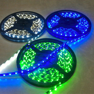 5m/lot Flexible SMD 3528 RGB Waterproof LED Strip Light Ribbon Tape Christmas Party Car Indoor Decoration decals ff