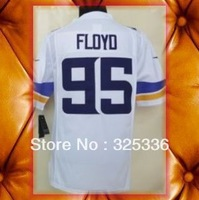 Minnesota 95 Sharrif Floyd 2013 White Purple Limited Football Jerseys 2013 New Mix order