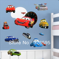 [ EMA STOCK ] Free Shipping DIY 3d Wallpaper Cartoon Pixar Cars To Kids for Children Room