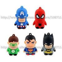 Free Shipping The Avengers Super Hero Series 2GB/4GB/8GB/16GB Cartoon Toy Figure USB Flash Memory Thumb Drive