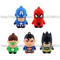 Free Shipping The Avengers Super Hero Series 2GB/4GB/8GB/16GB Cartoon Toy Figure USB Flash Memory Thumb Drive