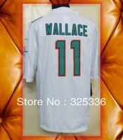 Miami 11 Mike Wallace 2013 Green White Limited Football Jerseys 2013 New Mix order