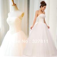 Gala wedding tube top wedding dress bandage paillette wedding dress bow princess wedding dress f02 soft screen