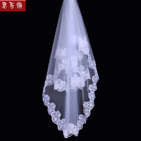 Married bride lace accessories train ultra long paragraph wedding dress elegant veil