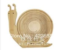 Folding multifunctional bamboo fruit basket decoration plate cartoon snail