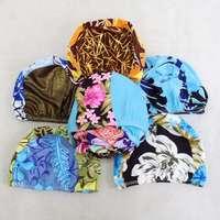 free shipping Cloth swimming cap high-elastic fabric fashion fancy cloth swimming cap multicolor