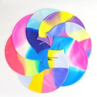 free shipping Jiejia mc multicolour silica gel series swimming cap child general color