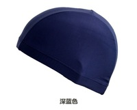 free shipping Ultra elastic swimming cap male Women solid color cloth swimming cap solid color swim cap big boy