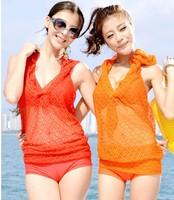 2013 wind steel push up swimwear bikini piece set female  swimwear  bathing suit Free Shipping