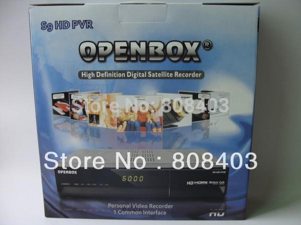 Free shipping Openbox S9 HDTV VCR HD FTA PVR DVB-S Digital Satellite Receiver(China (Mainland))