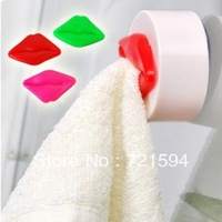Free Shipping 3PCS/Bag Innovative Items Flawless lips Printed Towel Hook With Sucker Towel Rack/Bathroom Accessories Sets