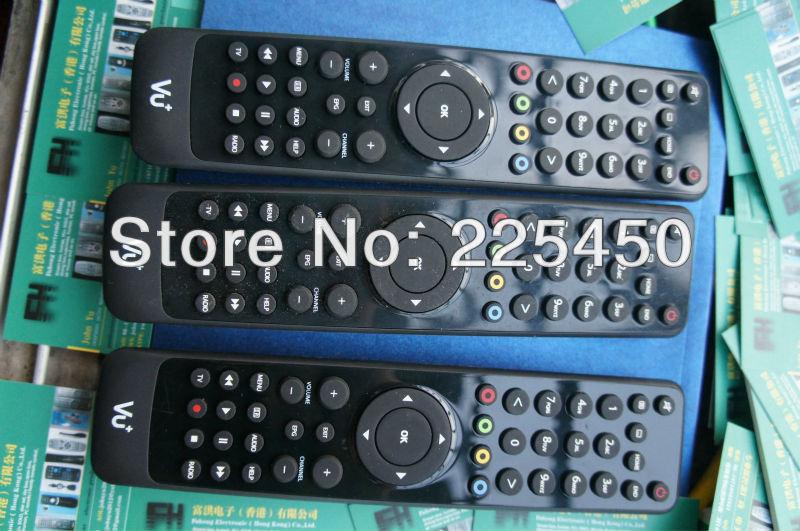 black VU+ solo set top box remote with VU+ logo for VU+ solo set top box with strong function and best quality(China (Mainland))