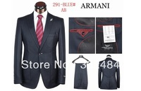 High Quality 2013  New Style Black Blue Coffee Fashion Men's Suits Blazer Coat +Pants XS-4XL Dress Suits