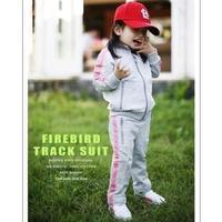 2014 hot sale Children's clothes baby girls boys striped sport clothing sets 2pcs leisure suits 5sets/lot