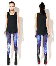East Knitting FH-149 Fashion Woman slim Leggings Space Printed  slim Pants Plus Size XL FREE SHIPPING new 2014(China (Mainland))