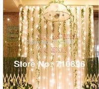 2014 wholesale cheap wedding light 3*3M 300pcs LED curtain light Christmas/wedding/party/hotel decoration,led string tree light