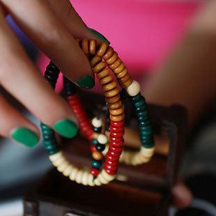 Wholesale Religion Jewelery Multicolored ebony 108 Beads Multilayer Buddha Bracelets Men / Women Lucky Gift Fashion Charm