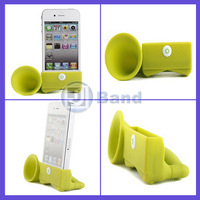 For iPhone 5 5S Horn Stand Amplifier Speaker Case