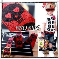 10pcs/lots ISSO KIDS children pants waistband, costume accessory, kids jeans belt, boys leather belt wholesale