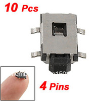 10 Pcs Momentary Tactile Tact Push Button Switch 6 x 4 x 1.9mm 4 Pin SMD SMT